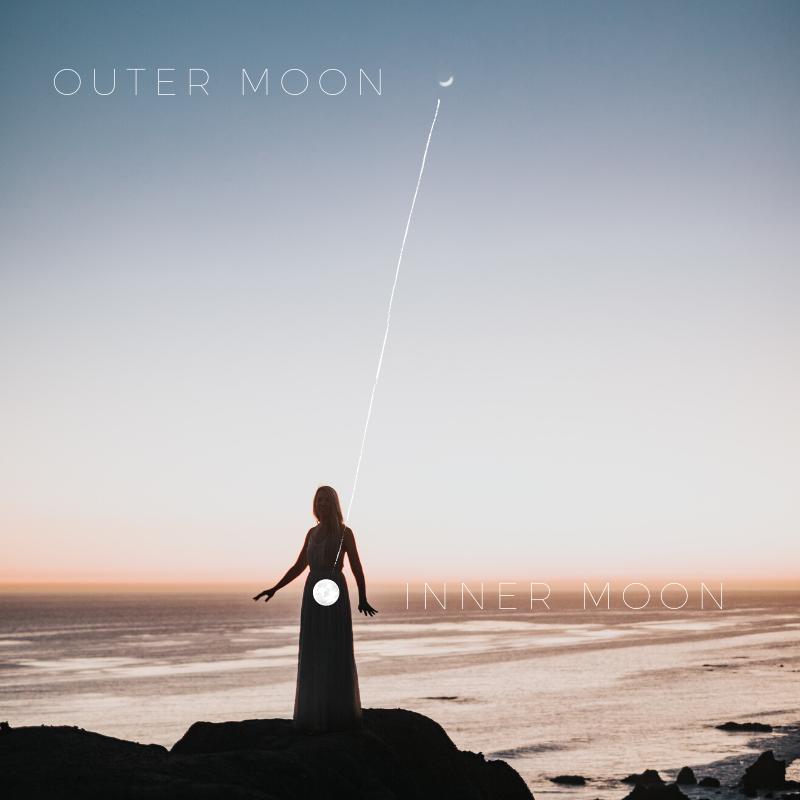 Innerer Mond in Verbindung zum äußeren Mond einer Frau.